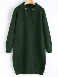 فستان سويت مع غطاء الرأس - مسود الخضراء