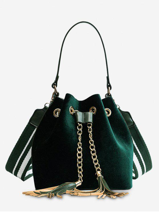 shops Tassel String Chain Handbag - GREEN