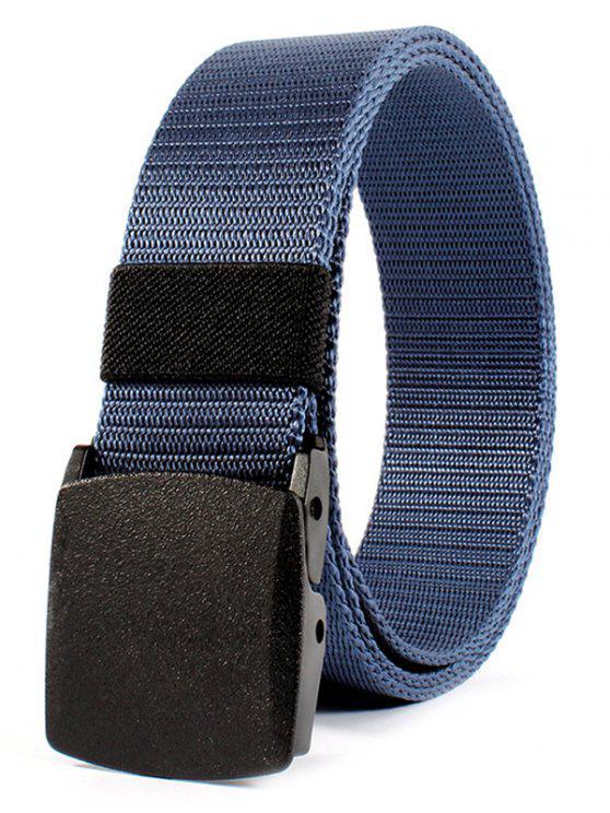 Gürtel Metallschnalle verschönert Leinwand Gürtel - Blau