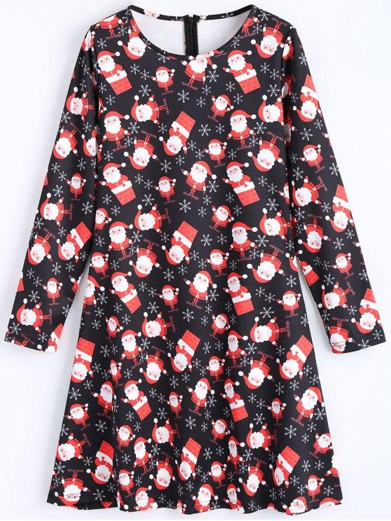 29 rabatt 2019 weihnachtsmann langarm weihnachten kleid. Black Bedroom Furniture Sets. Home Design Ideas