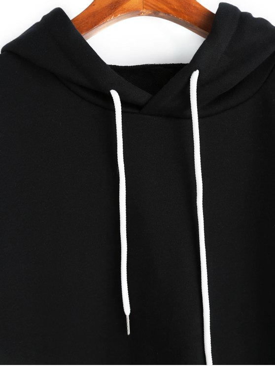 Layered Hoodie Color Black 3xl Sleeve Block Double Hx7qgd8d