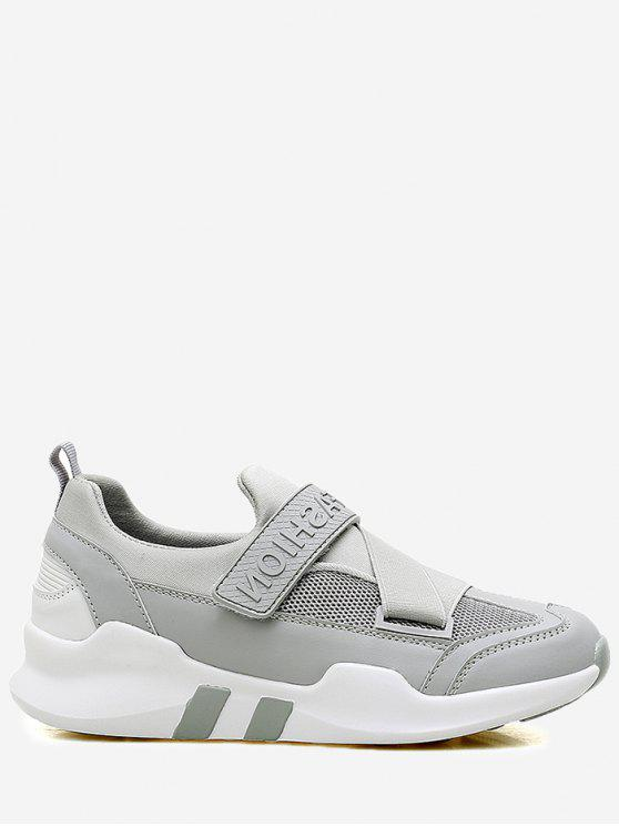 shop Splicing Color Block Sneakers - GRAY 40