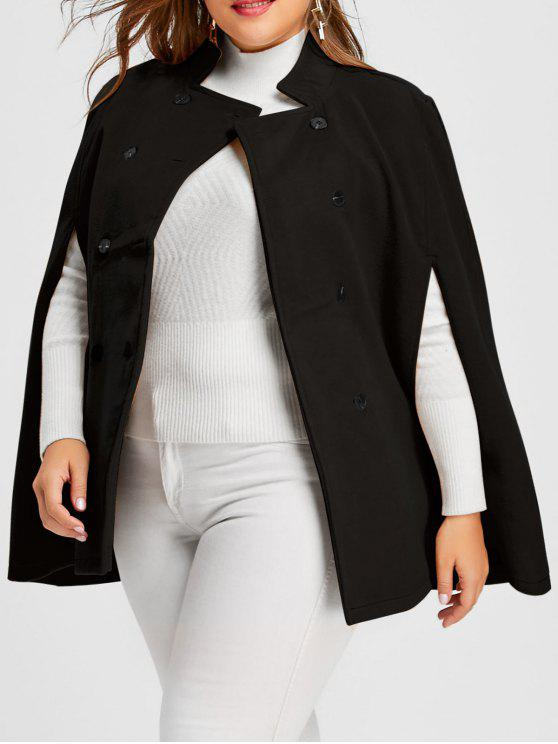 a5fc006dd74 33% OFF  2019 Plus Size Double Breasted Wool Blend Cape Coat In ...