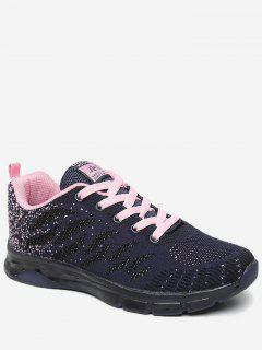 Breathable Color Block Sneakers - Light Pink 40