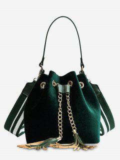 Tassel String Chain Handbag - Green
