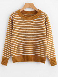 Zweiteiliger Gestreifter Pullover Mit Rundhalsausschnitt - Streifen