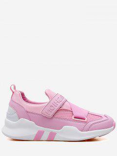 Splicing Color Block Sneakers - Pink 40