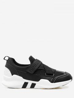 Splicing Color Block Sneakers - Black 36