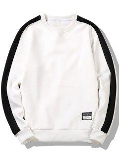 Patch Design Two Tone Sweatshirt - White Xl