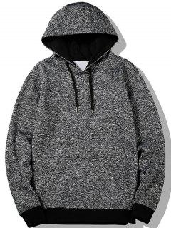 Kangaroo Pocket Space Dyed Hoodie - Gray 2xl