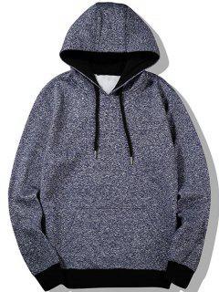 Kangaroo Pocket Space Dyed Hoodie - Blue 2xl
