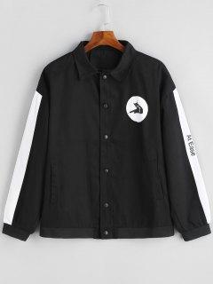 Farbe Schwarz Button Up Jacke - Schwarz L
