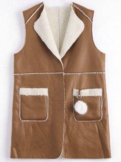 Plus Size Shearling Waistcoat - Earthy 3xl