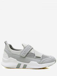 Splicing Color Block Sneakers - Gray 40