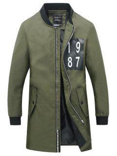 Manteau Slim Fit à Imprimé Numéral - Vert 3xl