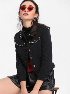 Studded Denim Jacket - Black S
