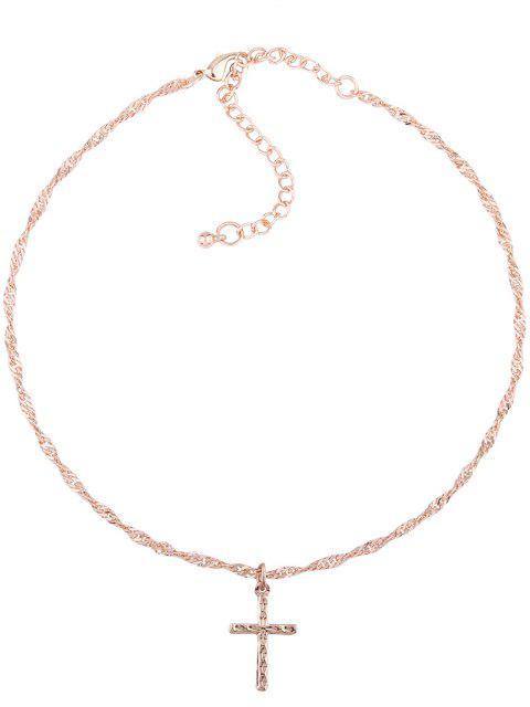 Eingravierte Legierung Anhänger Schlüsselbein Halskette - Muster A  Mobile