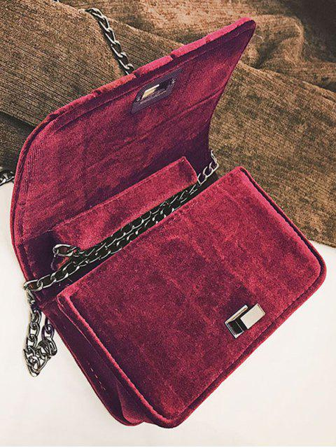 chic Chain Striped Hasp Crossbody Bag -   Mobile