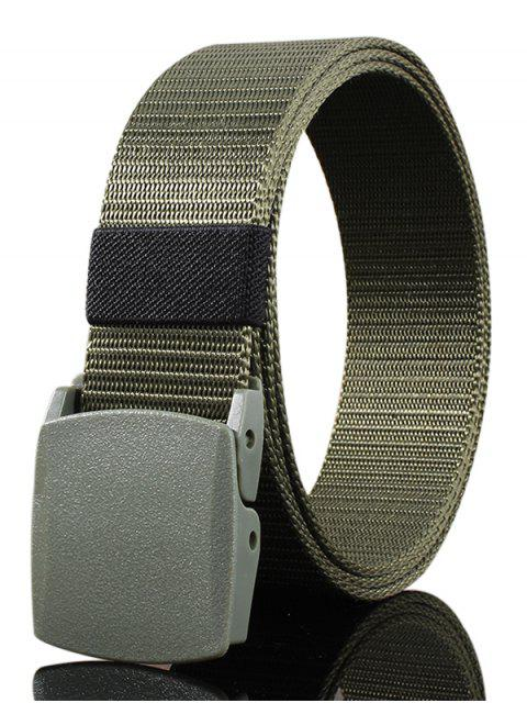 shops Belt Metal Buckle Embellished Canvas Belt - ARMY GREEN  Mobile