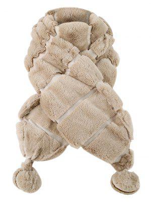 Bola borrosa decorada bufanda larga de gamuza