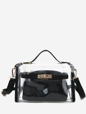 Transparent 2 Pieces Crossbody Bag Set