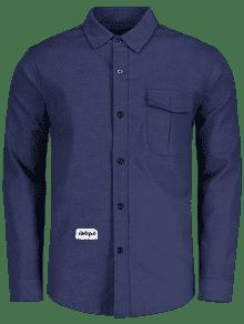 2xl Camisa Dise De Azul Parche De o Bolsillo qfWn6Tq7