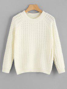 Camisola De Pescoço De Corpo Texturizado - Quase Branco
