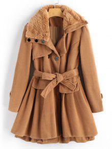 معطف تنورة مزيج الصوف - جمل L