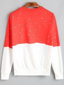 schneemann weihnachtsbaum tupfen sweatshirt rot und wei sweatshirts s zaful. Black Bedroom Furniture Sets. Home Design Ideas