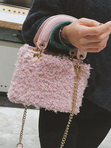 Chain Faux Fur Handbag With Strap