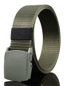 حزام مشبك معدني مزين قماش حزام - الجيش الأخضر