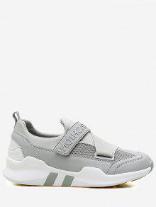 الربط حذاء كتلة اللون - رمادي 40