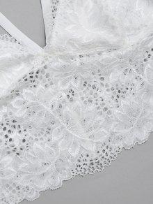 51072e9c7e 26% OFF  2019 Caged Lace Bra Top In WHITE L