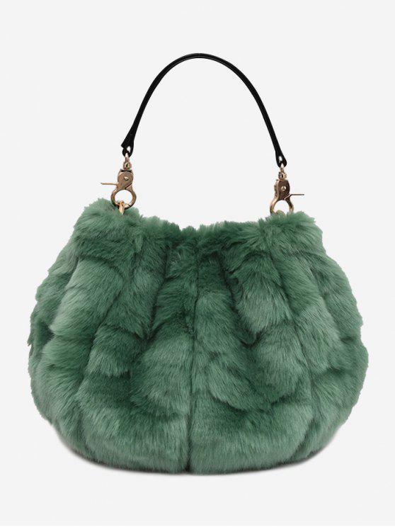 Multi-Função Fuzzy Handbag - Verde