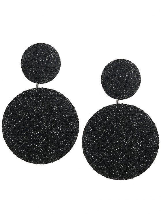 online Vintage Round Layered Earrings - BLACK