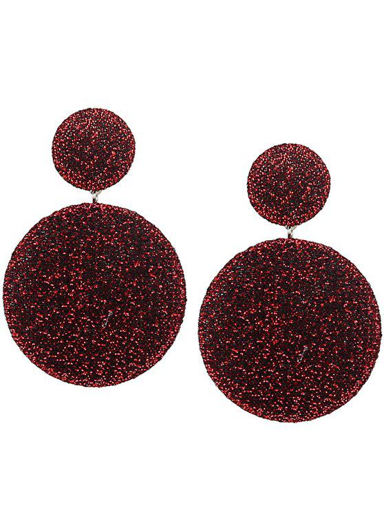 outfit Vintage Round Layered Earrings - RED