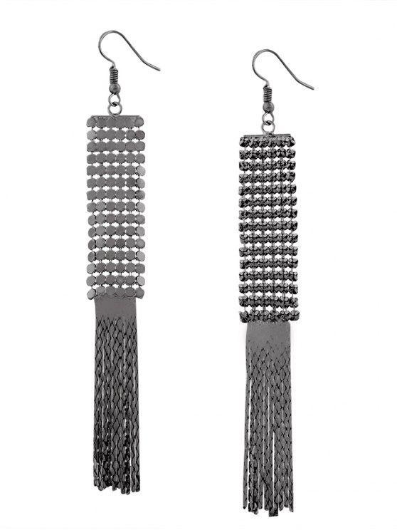 Brincos de fivela de metal com liga de liga vintage - Arma preta