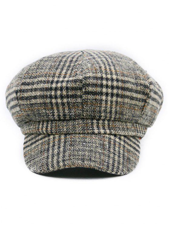 2018 Houndstooth Pattern Embellished Newsboy Hat In Pattern D Zaful