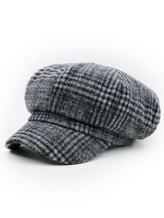Chapeau de Newsboy orné de motifs pied-de-poule - TEXTURE F
