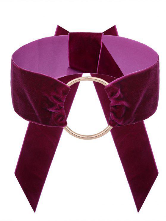 Collana del Choker del velluto del cerchio dell'annata - Sangria