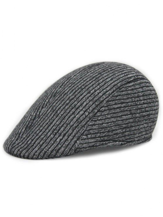 shops Retro Stripe Pattern Knitting Duckbill Hat - DARK GRAY