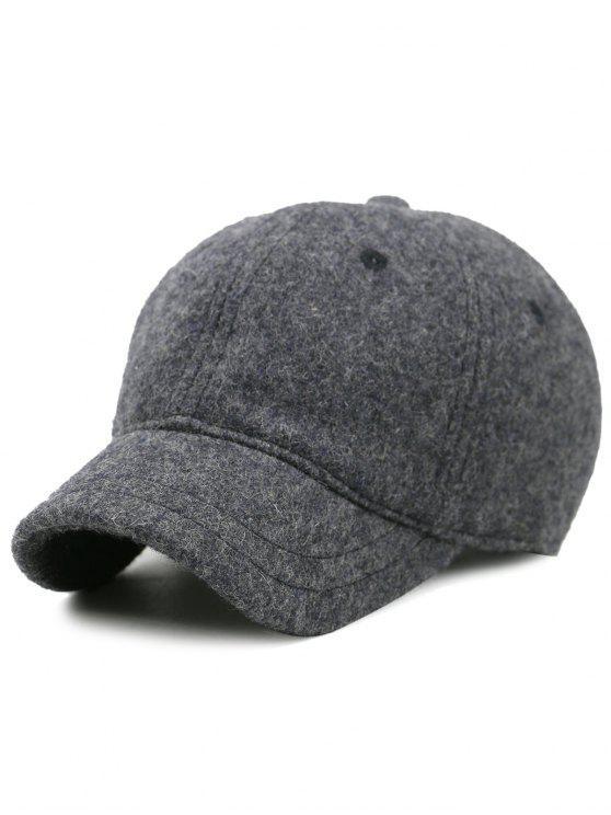 Lines Brodé Nostalgique Couleur Baseball Hat - GRIS FONCE