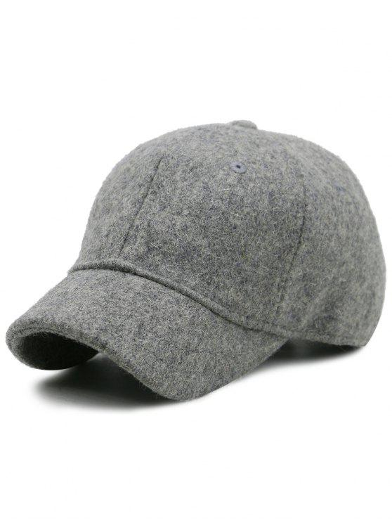 buy Lines Embroidered Nostalgic Color Baseball Hat - LIGHT GREY