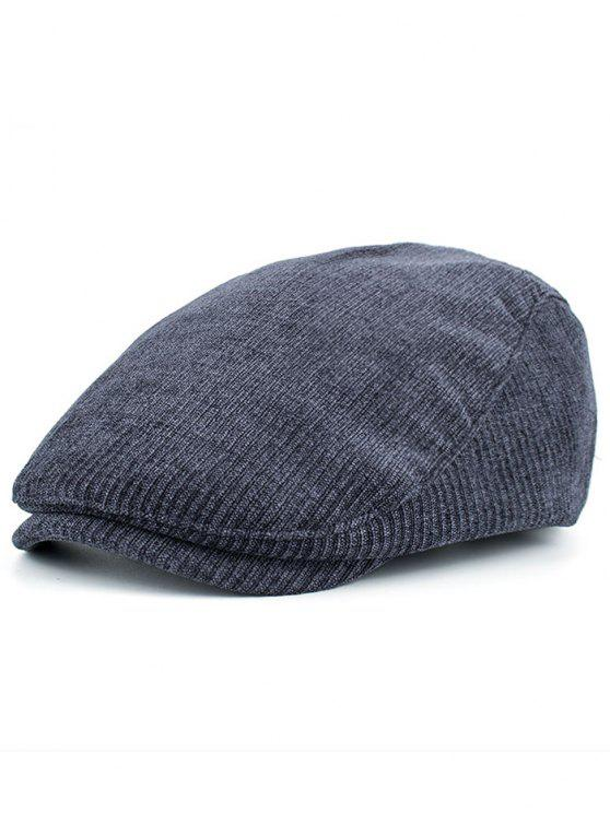 women Striped Pattern Embellished Adjustable Newsboy Hat - CADETBLUE
