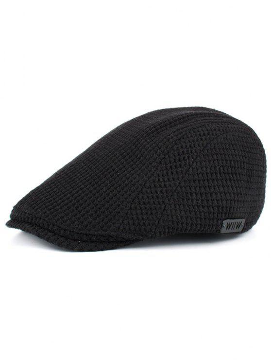 Einfache Mais Form verschönert Duckbill Hut - Schwarz