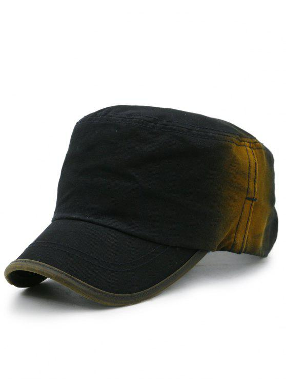buy Line Embroidery Gradient Color Military Hat - BLACK