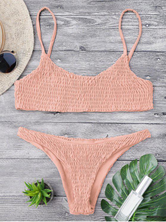 Bikini y parte superior desgastados de bikini - Rosado S