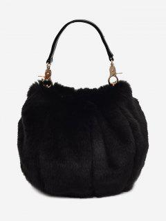 Multi Function Fuzzy Handbag - Black