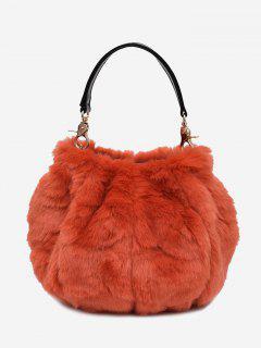 Multi Function Fuzzy Handbag - Orange