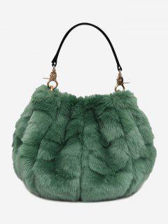 Multi Function Fuzzy Handbag - Green